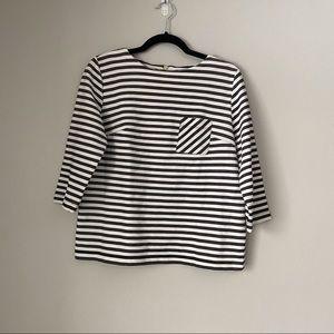 Striped zipper blouse Merona size medium